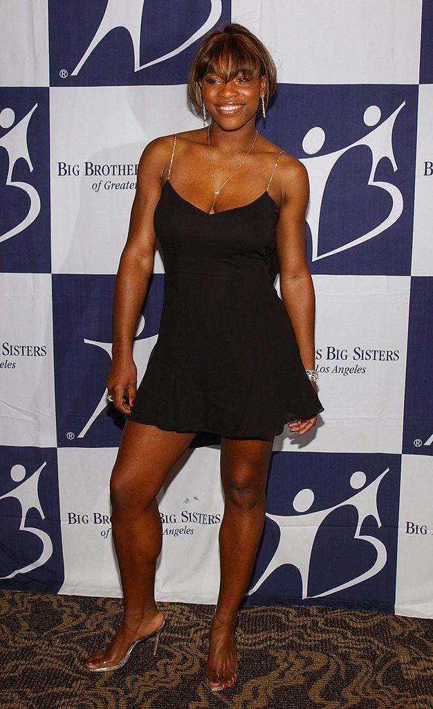<p>Williams looked adorable in this super Noughties outfit consisting of LBD and clear, strappy sandals. </p>
