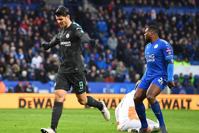 Antonio Conte praises Chelsea's Alvaro Morata for being 'strong' and showing character against Leicester