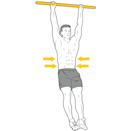 <p>Brace your core and tense your abs to assist with stability and prevent your body from swinging too much. The main aim is to develop strength here, so it's important that you try to avoid creating any momentum by kicking your legs around.</p><p><strong>Form Check: </strong>Swinging your legs defeats the point of performing a strict movement. As a result, you won't be creating the right stimulus to develop your strength and size. </p>