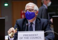 Borrell chairs video conference of EU foreign ministers on Israeli-Palestinian conflict, in Brussels