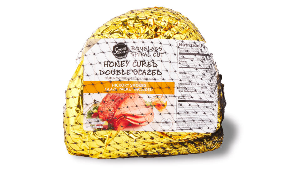 Grab this honey ham in time for the big day! (Photo: Walmart)