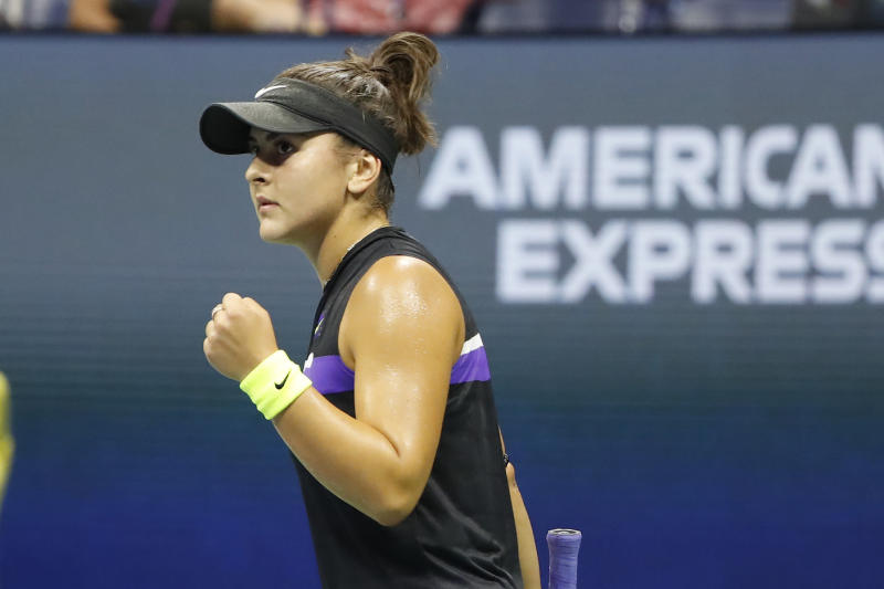 Canada's Bianca Andreescu could advance to the US Open final with a victory over Belinda Bencic on Thursday. (Geoff Burke-USA TODAY Sports)