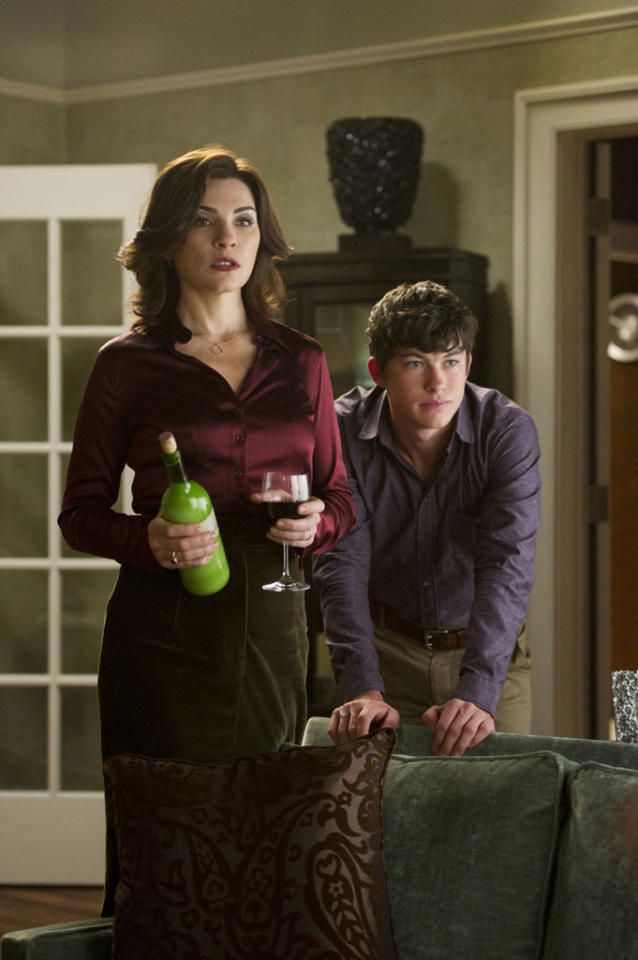 "Alicia (Julianna Margulies) and Zach (Graham Phillips) are in for a long evening when both her and Peter's mothers are in attendance in ""A Defense of Marriage,"" the ninth episode of ""The Good Wife"" Season 4."