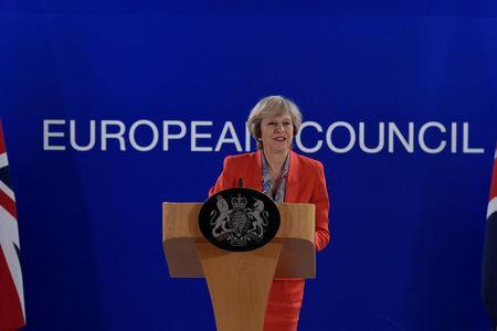Britain's Prime Minister Theresa May holds a news conference after the EU summit in Brussels, Belgium October 21, 2016. REUTERS/Eric Vidal