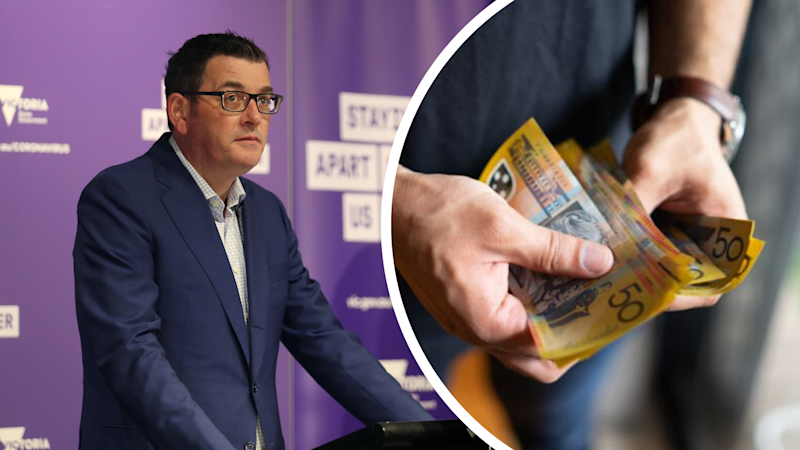 Victorian Premier Daniel Andrews is promising $1,500 to those who have to self-isolate at home due to the coronavirus. (Source: AAP, Getty)