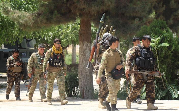 Afghan security forces have reportedly been surrendering in large number - Reuters