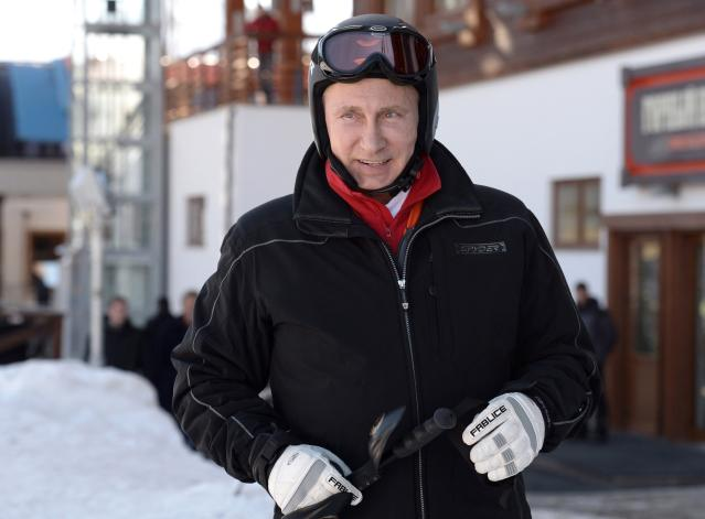 """Russian President Vladimir Putin visits the """"Laura"""" cross country ski and biathlon centre in the resort of Krasnaya Polyana near Sochi January 3, 2014. REUTERS/Alexei Nikolskiy/RIA Novosti/Kremlin (RUSSIAPOLITICS OLYMPICS - Tags: POLITICS SPORT OLYMPICS) ATTENTION EDITORS - THIS IMAGE HAS BEEN SUPPLIED BY A THIRD PARTY. IT IS DISTRIBUTED, EXACTLY AS RECEIVED BY REUTERS, AS A SERVICE TO CLIENTS"""