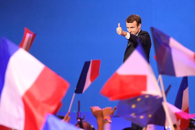 Investors breathed a huge sigh of relief as moderate candidate Emmanuel Macron looked on course to beat the anti-EU Marine Le Pen to become France's next president