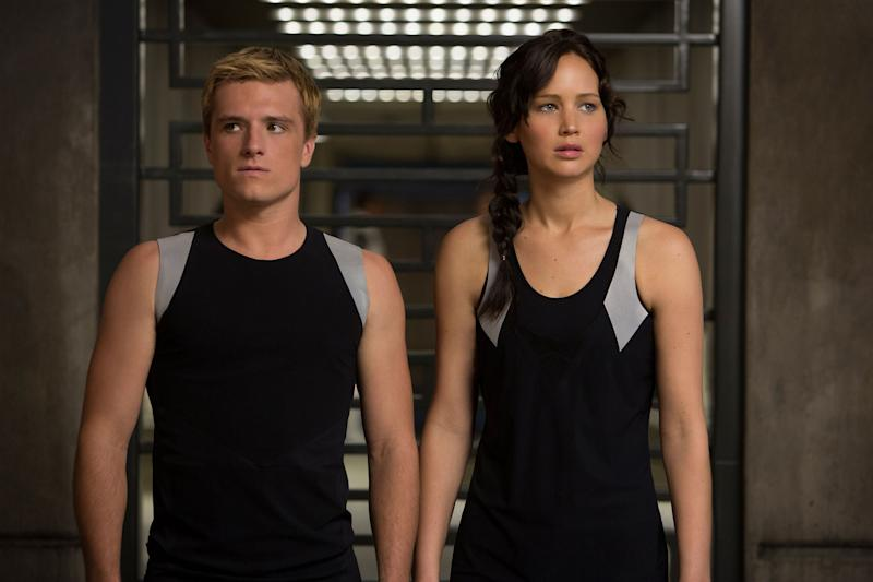 "Josh Hutcherson and Jennifer Lawrence in ""Catching Fire"""