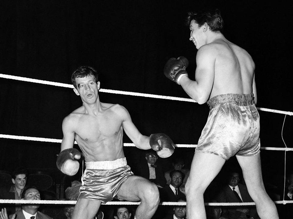 Belmondo, once an amateur boxer, in the ring in Paris in the Sixties (AFP/Getty)