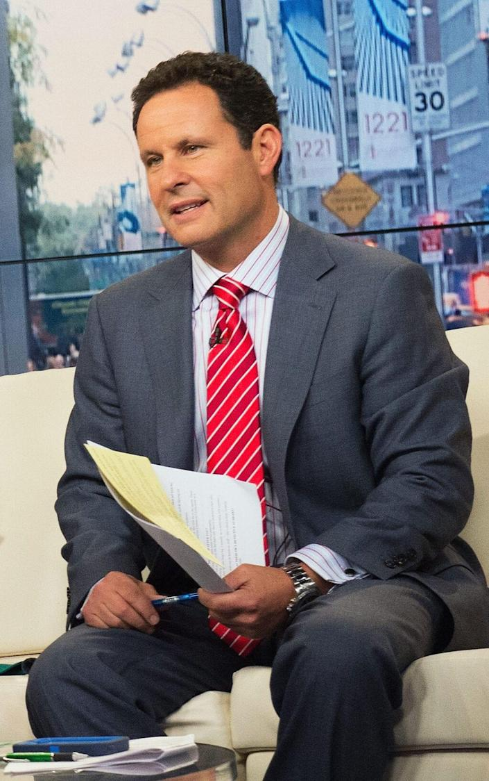 """NEW YORK, NY – OCTOBER 16: Brian Kilmeade hosts """"FOX & Friends""""at FOX Studios on October 16, 2013 in New York City. (Photo by Slaven Vlasic/Getty Images)"""