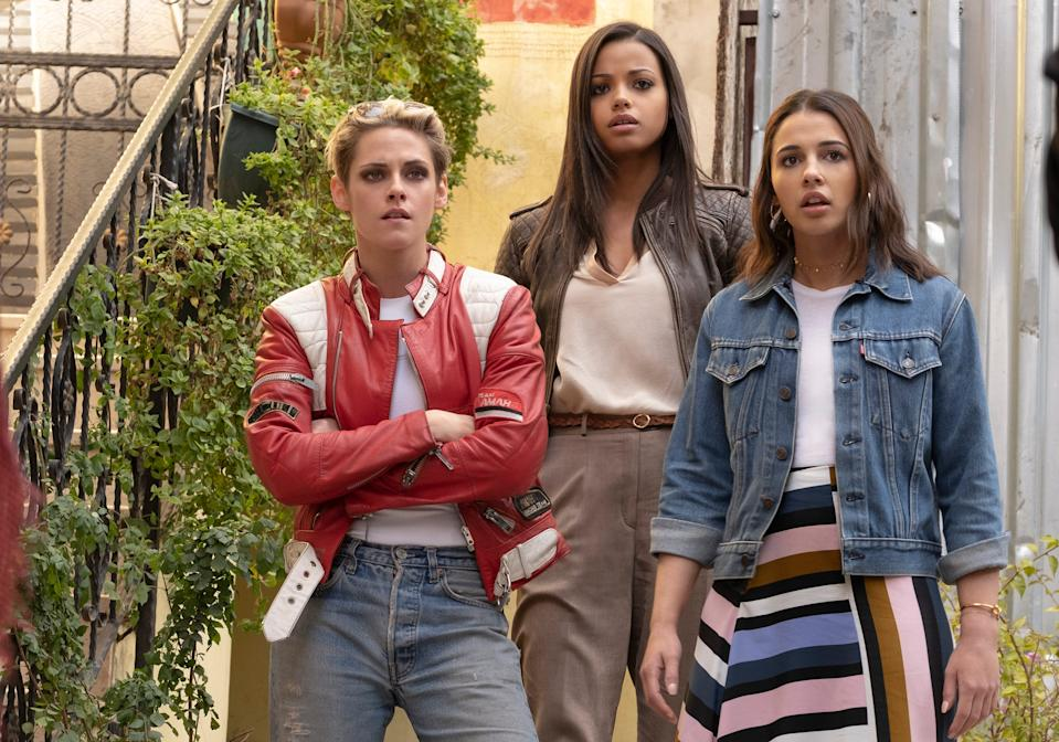 "Kristen Stewart (from left), Ella Balinska and Naomi Scott star as the new secret agents of ""Charlie's Angels."""