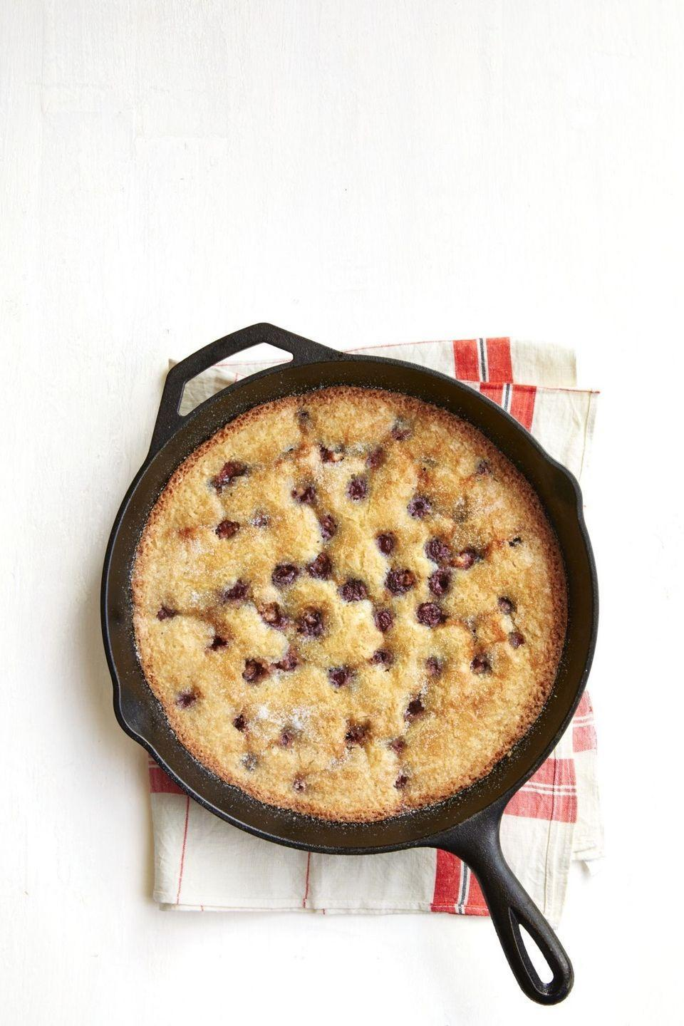 """<p>You won't find a dessert much easier than this cherry cobbler, and it looks great served right from the skillet.</p><p><strong><a href=""""https://thepioneerwoman.com/food-cooking/recipes/a32098568/cherry-cobbler-recipe/"""" rel=""""nofollow noopener"""" target=""""_blank"""" data-ylk=""""slk:Get the recipe."""" class=""""link rapid-noclick-resp"""">Get the recipe.</a></strong></p><p><a class=""""link rapid-noclick-resp"""" href=""""https://go.redirectingat.com?id=74968X1596630&url=https%3A%2F%2Fwww.walmart.com%2Fip%2FThe-Pioneer-Woman-Timeless-Beauty-Pre-Seasoned-Plus-12-Cast-Iron-Fry-Pan%2F106289810&sref=https%3A%2F%2Fwww.thepioneerwoman.com%2Ffood-cooking%2Fmeals-menus%2Fg32109085%2Ffourth-of-july-desserts%2F"""" rel=""""nofollow noopener"""" target=""""_blank"""" data-ylk=""""slk:SHOP CAST-IRON SKILLETS"""">SHOP CAST-IRON SKILLETS</a></p>"""