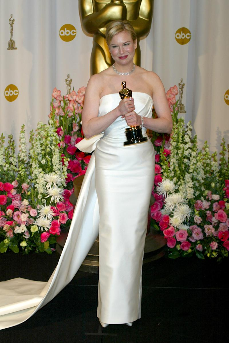"Zellweger took home the Oscar for Best Supporting Actress in 2004 for her role in ""Cold Mountain."" (Photo by Jeffrey Mayer/WireImage)"
