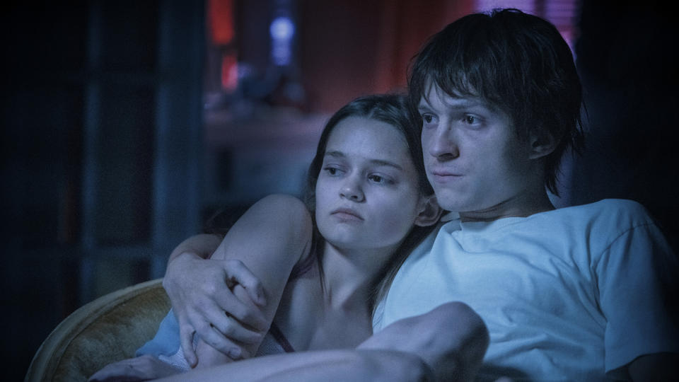 Ciara Bravo and Tom Holland in 'Cherry'. (Credit: Apple TV+)