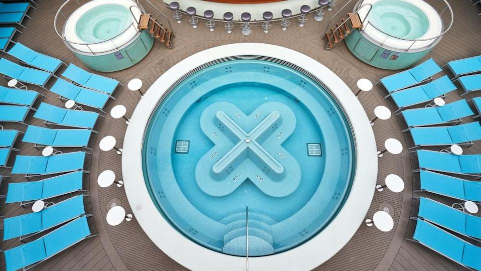 The Wellbeing Pool and surrounding deck. - Credit: Courtesy Virgin Voyages