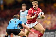 Wales coach Warren Gatland has called up wing Hallam Amos for just his fifth cap only two days after his 21st birthday (AFP Photo/Damien Meyer)