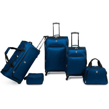 Protege 5-Piece Luggage Set w/ Carry On and Checked Bag. (Photo: Walmart)