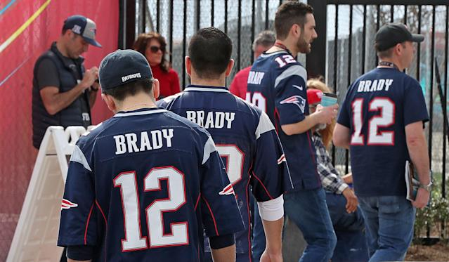 In case you hadn't heard, Tom Brady is popular in New England. (Photo by Jim Davis/The Boston Globe via Getty Images)