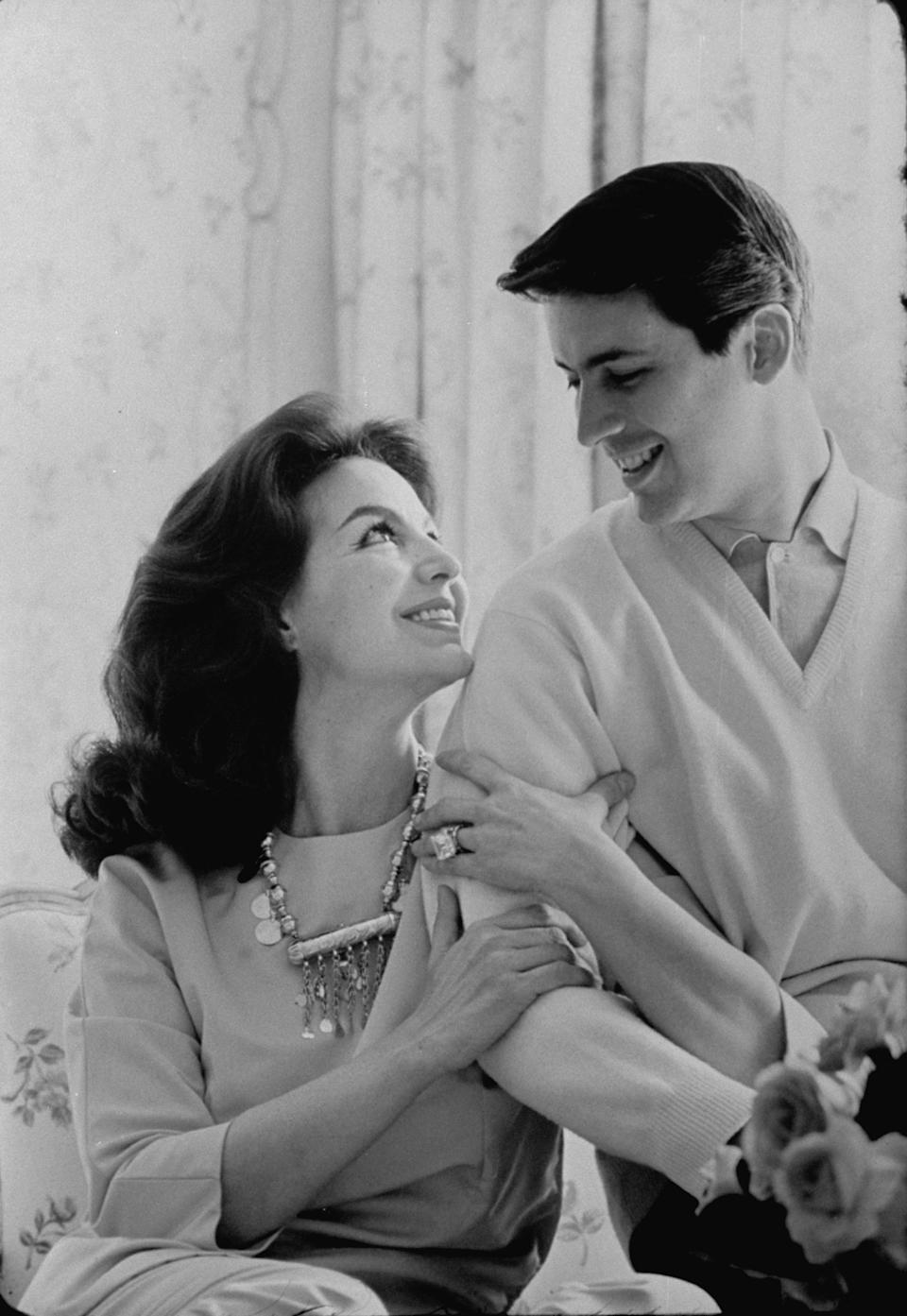 Actress Maria Felix with son Enrique Alviarez.  (Photo by Bill Ray/The LIFE Picture Collection via Getty Images)
