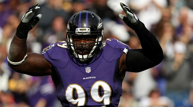 "<p>The Eagles have traded for Ravens defensive tackle Timmy Jernigan, the teams <a href=""http://www.nfl.com/news/story/0ap3000000797587/article/ravens-trade-dt-timmy-jernigan-to-eagles?campaign=tw-nf-sf67907356-sf67907356"" rel=""nofollow noopener"" target=""_blank"" data-ylk=""slk:announced"" class=""link rapid-noclick-resp"">announced</a> Tuesday.</p><p>Philadelphia acquire Jernigan and the 99th pick in the upcoming draft from Baltimore in exchange for the No. 74 pick in the draft. The Ravens move up 25 places in the third round.</p><p>""Timmy has been a terrific player for us for three seasons,"" Newsome explained in a statement released by the team. ""This will allow our young group of defensive linemen an opportunity to compete and play.""</p><p>Jernigan, a second-rounder in 2014 out of Florida State, made 15 starts last season and recorded five sacks as one of the Ravens' key pass-rushers. Baltimore signed nose tackle Brandon Williams to a five-year deal last month.</p>"