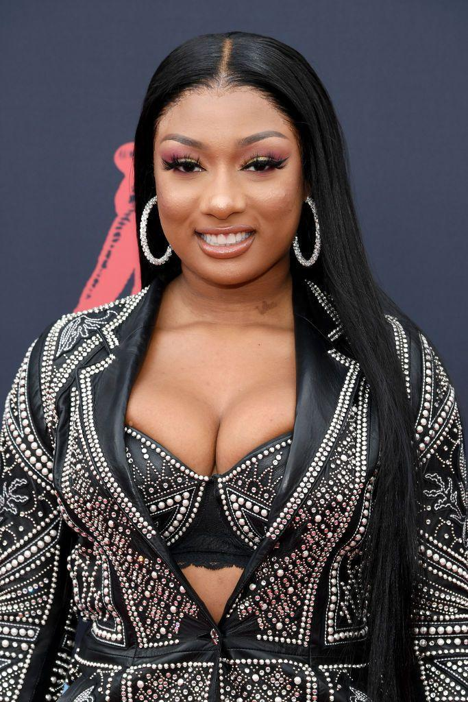 """<p>The artist wore sleek, long black hair to the 2019 MTV Video Music Awards, where she went on to win the Best Power Anthem award for """"Hot Girl Summer.""""</p>"""