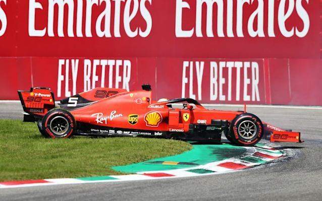 In a spin: Sebastian Vettel endured another chastening and difficult grand prix in Italy - Getty Images Europe