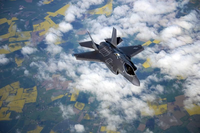 Most non-industry visitors come for thrills such as an F-35 ripping through the sky (AFP Photo/Christine GROENING)