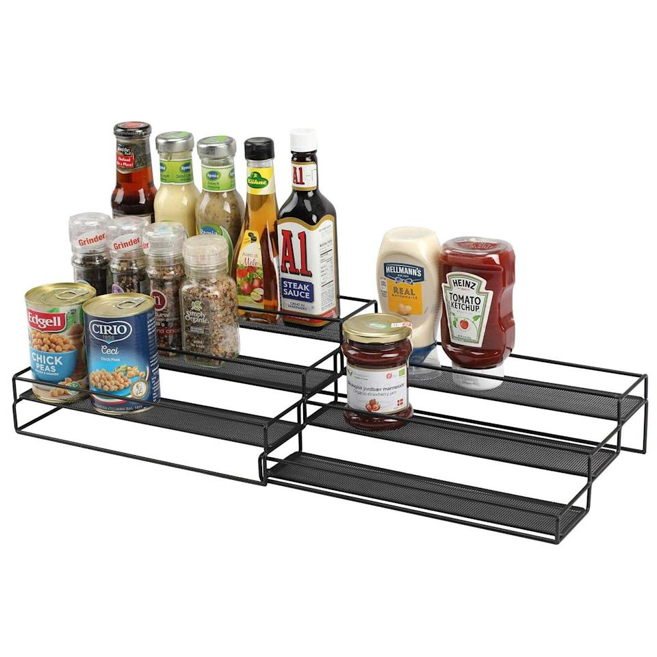 <p>With the <span>3-Tier Expandable Spice Rack Organizer For Cabinet</span> ($27, originally $44), you'll be able to see all the spices and condiments in your arsenal. It's expandable design is perfect for your ever-growing collection. </p>