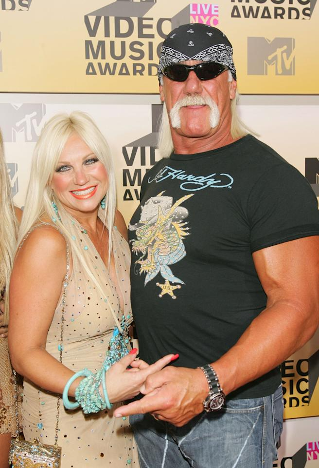 NEW YORK - AUGUST 31:  Linda Hogan and wrestler Hulk Hogan attend the 2006 MTV Video Music Awards at Radio City Music Hall August 31, 2006 in New York City.  (Photo by Evan Agostini/Getty Images)