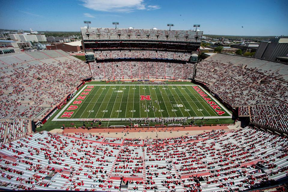 A view of Nebraska's Memorial Stadium during its spring football game on May 1.