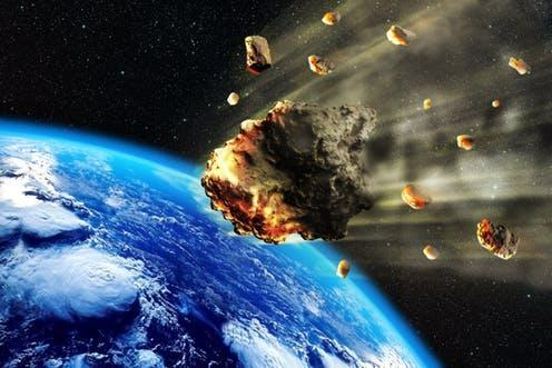 """<span class=""""caption"""">Asteroids known as 'S-type' contain a lot more water than we thought.</span> <span class=""""attribution""""><a class=""""link rapid-noclick-resp"""" href=""""https://www.shutterstock.com/image-illustration/3d-rendering-swarm-meteorites-asteroids-entering-622750775?src=oeOtzIPn1FFhr4F2kYfluQ-1-1"""" rel=""""nofollow noopener"""" target=""""_blank"""" data-ylk=""""slk:Oliver Denker/Shuttestock"""">Oliver Denker/Shuttestock</a></span>"""