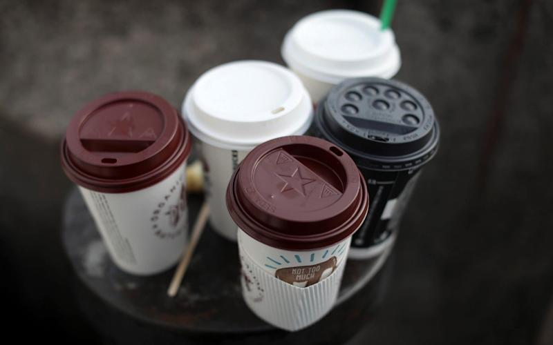 Coffee cups will be recycled at the Selecta UK sites across the south east. - REUTERS