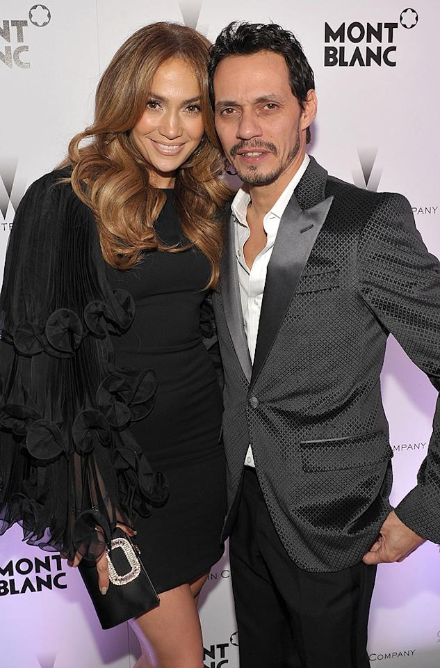 """<p class=""""MsoNoSpacing"""">Although she had already been divorced twice, Jennifer Lopez insisted, """"Divorce is not – and was never – an option,"""" in a 2009 <i>In Touch</i> interview when rumors began swirling she was headed for a split with third husband Marc Anthony. """"Every time I'm not wearing my ring, people think I'm getting divorced."""" Yet two years later, in July 2011, the duo, parents to now-4-year-old twins Max and Emme, announced it was finally over after coming to an """"amicable conclusion.""""</p>"""