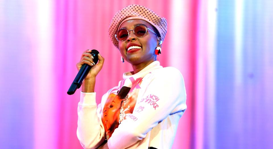 Janelle Monae performs during the 2019 Coachella Festival (Getty)