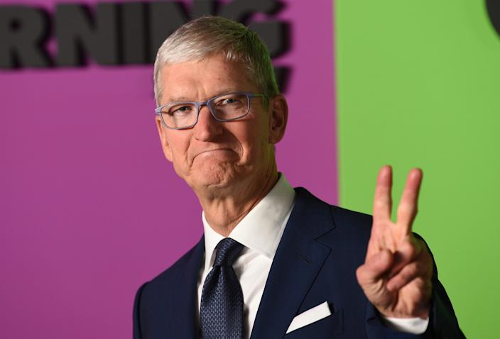 "<br>Apple CEO Tim Cook attends the world premiere of Apple's ""The Morning Show"" at David Geffen Hall on Monday, Oct. 28, 2019, in New York City."