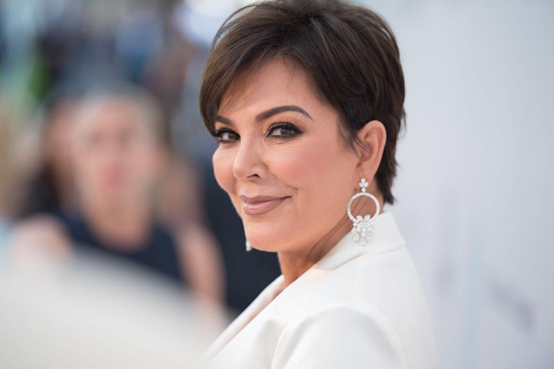 Kris Jenner up-front picture shows that old age has nothing on her as she looks like a damsel in white suit