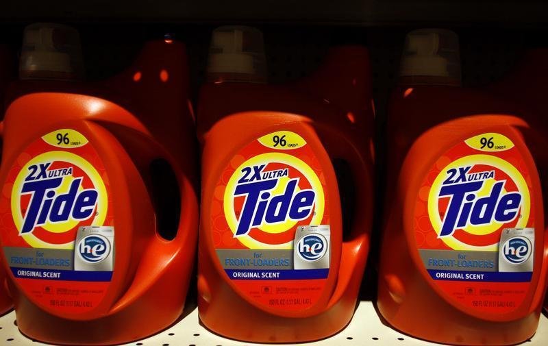 Tide detergent, a Procter & Gamble product, is displayed on a shelf at a store in Tempe