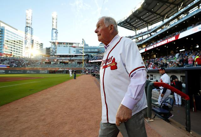 Bobby Cox was reportedly taken to the hospital Tuesday. (Photo by Kevin C. Cox/Getty Images)