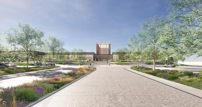 Architectural Rendering of the Jack C. Taylor Visitor Center at the Missouri Botanical Garden