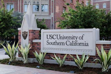 FILE PHOTO: The University of Southern California is pictured in Los Angeles, California