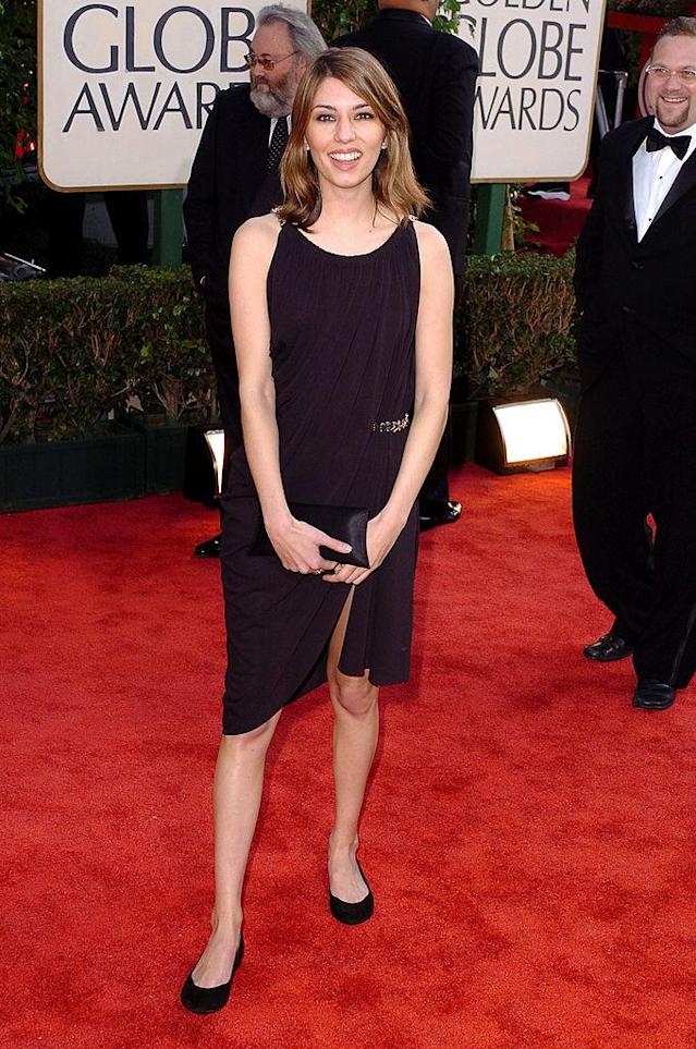 Sofia Coppola at the Golden Globes in 2004. (Photo: Getty Images)