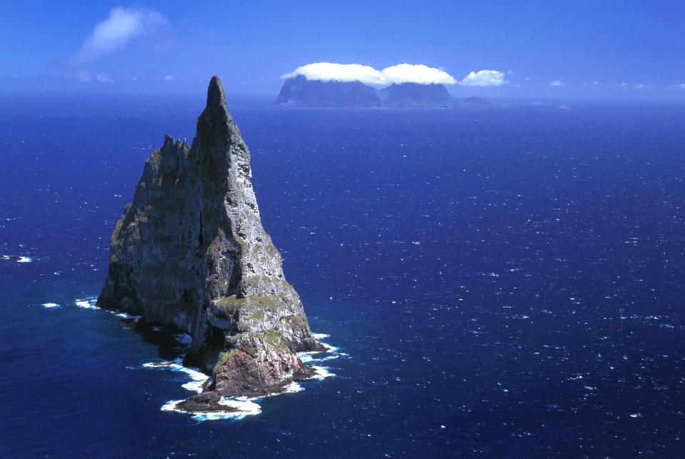<b>Balls Pyramid</b> - The worlds tallest sea stack, at 562 metres, in Lord Howe Island, New South Wales, Australia. (Jean Paul Ferrero/Ardea/Caters News)