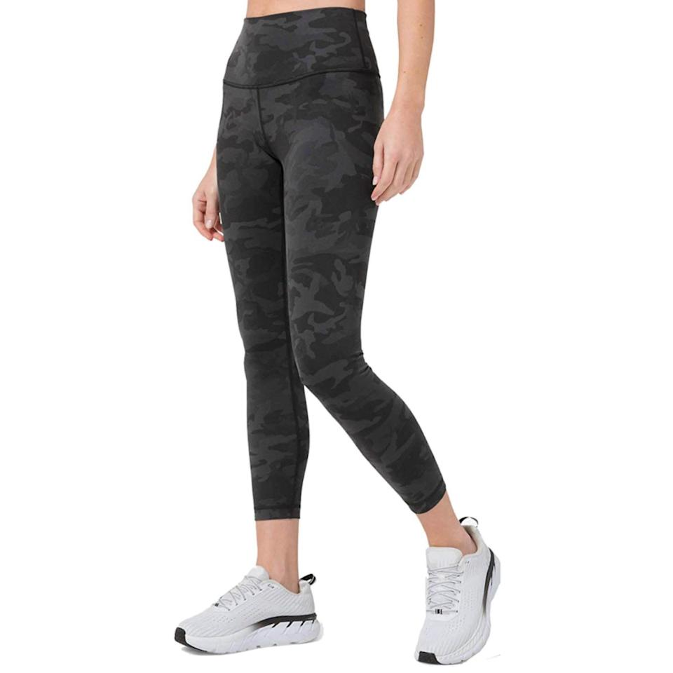 """<p><strong>Lululemon Athletica</strong></p><p>amazon.com</p><p><strong>$121.00</strong></p><p><a href=""""https://www.amazon.com/dp/B0882RS5H6?tag=syn-yahoo-20&ascsubtag=%5Bartid%7C2142.g.36448024%5Bsrc%7Cyahoo-us"""" rel=""""nofollow noopener"""" target=""""_blank"""" data-ylk=""""slk:Shop Now"""" class=""""link rapid-noclick-resp"""">Shop Now</a></p><p>These lululemon leggings feature the brand's well-known cotton-like touch Luon fabric that also still boasts sweat-wicking powers. Expect a snug but still relaxed fit from these bottoms.</p>"""