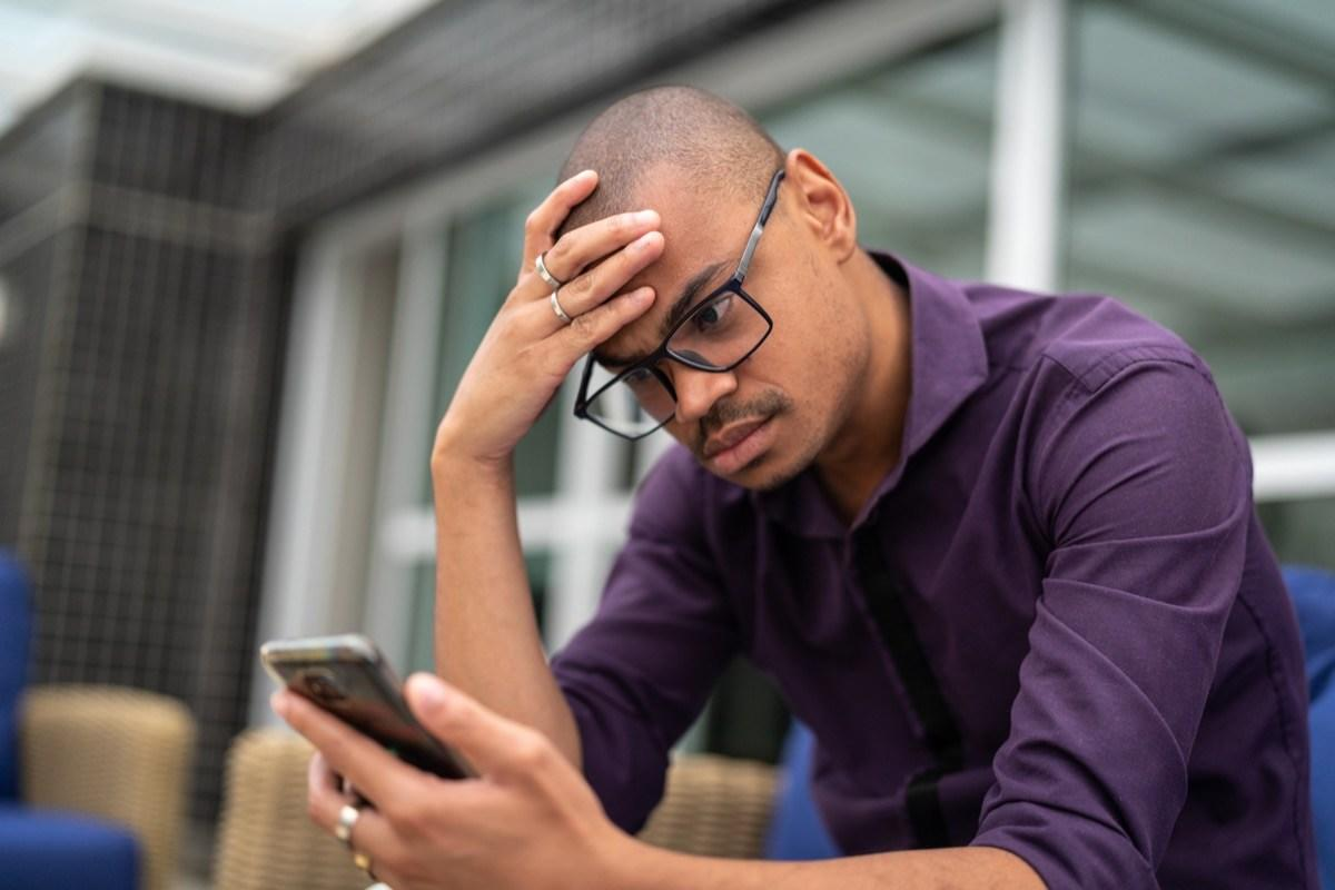 """If hopping on Facebook, Twitter, Snapchat, or Instagram and seeing the good times others are having makes your blood temperature rise, you might be a bit too negative. Wathen explains that <a href=""""https://bestlifeonline.com/social-media-stress/?utm_source=yahoo-news&utm_medium=feed&utm_campaign=yahoo-feed"""">social media can stress out a negative person</a> who views things in extremes, assuming that others are enjoying life more than they are.  """"No one has a perfect Instagram Story life, so when we believe the parts that make us view our own lives, friends, and family as not cool, fun, or posh enough, we diminish what is in front of us,"""" Wathen says. """"Why can't others vacation in the South of France? It isn't a reflection on you unless you let it become one. We have zero idea what happened before or after the picture was taken or what is really going on in other people's lives, so stop obsessing. It just highlights our own displeasure with our current life."""""""