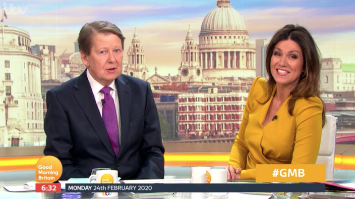 Bill Turnbull has been co-hosting 'Good Morning Britain' with Susanna Reid while Piers Morgan is on holiday (ITV)