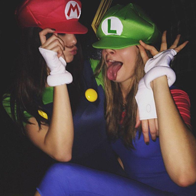 <p>Kendall Jenner and Cara Delevingne as Mario and Luigi.</p>