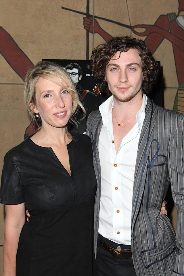 "<a href=""http://movies.yahoo.com/movie/contributor/1809220578"">Sam Taylor-Wood</a> and <a href=""http://movies.yahoo.com/movie/contributor/1808440454"">Aaron Johnson</a> at the Los Angeles screening of <a href=""http://movies.yahoo.com/movie/1810073977/info"">Nowhere Boy</a> on September 30, 2010."