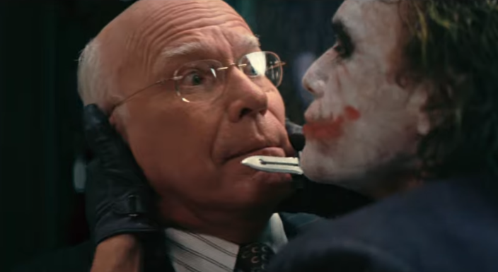 Leahy and Ledger in The Dark Knight (Credit: Warner Bros)