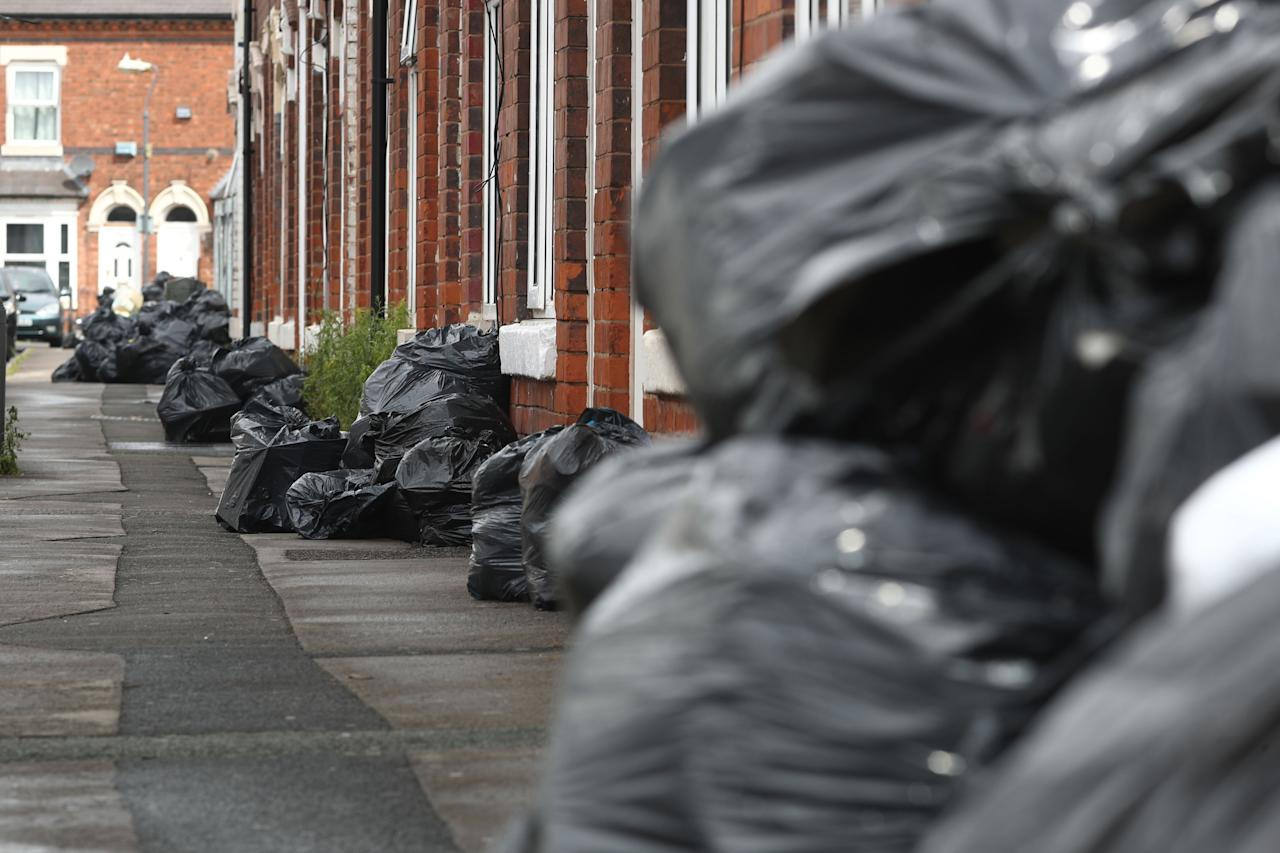 <p>Refuse collectors' strikes in Birmingham could last until Christmas, unions have warned [Picture: PA] </p>